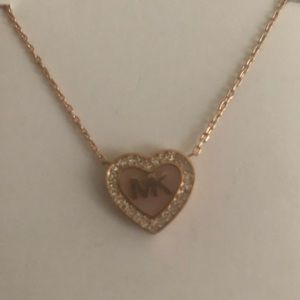 Michael Kors pink heart necklace